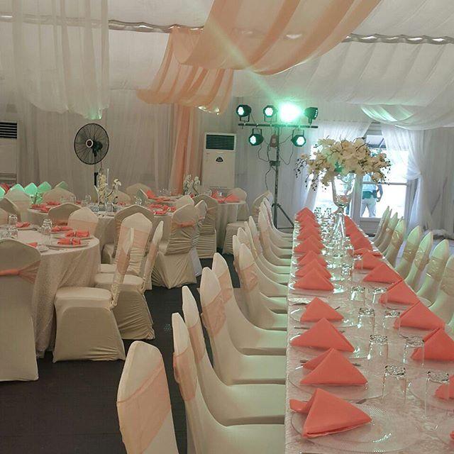 Reception design at Euphoria Event Place Event Center, Ikeja