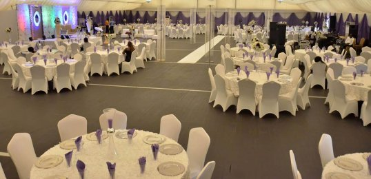 Spacious marquee of an Ikeja event centre